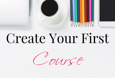 Create Your First Course